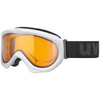Uvex Magic II Gogle narciarskie white z szybą lasergold lite clear 2019