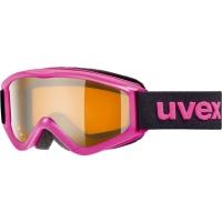 Uvex Speedy Pro Gogle narciarskie junior dziecięce pink z szybą lasergold 2019