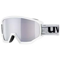 Uvex Athletic OTG Gogle narciarskie white mat z szybą mirror silver rose 2019
