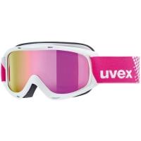Uvex Slider FM Gogle narciarskie junior dziecięce white mirror pink