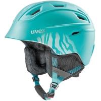 Uvex Fierce Kask narciarski snowboard petrol met mat 2019