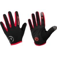 Accent Hero Rękawiczki rowerowe z długimi palcami czarno czerwone 2019