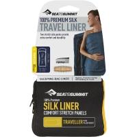 Sea to Summit Silk Strech Liner Prześcieradło Traveller with Pillow navy blue 2019