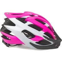 Author Aero X8 Kask rowerowy MTB różowo fluo biały 2019