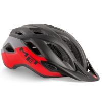 MET Crossover Kask rowerowy czarno czerwony