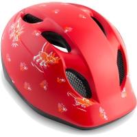 MET Super Buddy Kask rowerowy dziecięcy animals czerwony