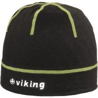 Viking Cross Country Craig Czapka rowerowa czarno zielona odblaskowe logo
