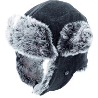 Viking Russian Hat Czapka uszatka zimowa polarowa czarna