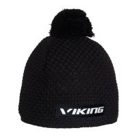 Viking Windstopper Berg Czapka zimowa z pomponem czarna