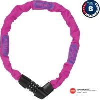 Abus Tresor 1385 75cm Zapięcie do roweru łańcuch na szyfr pink