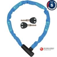 Abus Steel O Chain 5805K Zapięcie rowerowe łańcuch z zamkiem 75cm niebieski