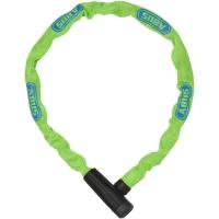 Abus Steel O Chain 5805K Zapięcie rowerowe łańcuch z zamkiem 75cm lime