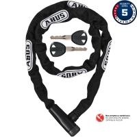Abus Steel O Chain 5805K Zapięcie rowerowe łańcuch z zamkiem czarny