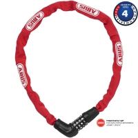 Abus Steel O Chain 5805C Zapięcie rowerowe łańcuch na szyfr 75cm czerwony