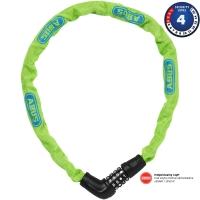 Abus Steel O Chain 5805C Zapięcie rowerowe łańcuch na szyfr 75cm lime