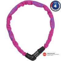 Abus Steel O Chain 5805C 75cm Zapięcie rowerowe łańcuch pink