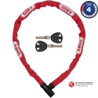 Abus Steel O Chain 4804K Zapięcie rowerowe łańcuch z zamkiem 75cm czerwony