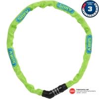 Abus Steel O Chain 4804C Zapięcie rowerowe łańcuch na szyfr 75cm lime