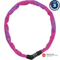 Abus Steel O Chain 4804C Zapięcie rowerowe łańcuch na szyfr 75cm różowy