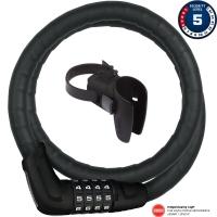 Abus Tresorflex 6615C Zapięcie rowerowe na szyfr czarne + SCMU