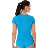 Brubeck Active Wool Koszulka damska krótki rękaw jasnoniebieska