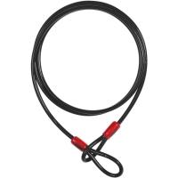 Abus Cobra Linka stalowa 12mm z pętlami czarna