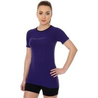 Brubeck 3D Run PRO Koszulka damska z krótkim rękawem purpurowa