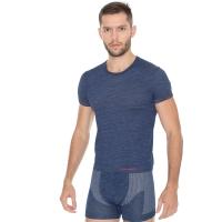 Brubeck Fusion Koszulka męska krótki rękaw ciemnoniebieska