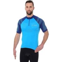 Brubeck Koszulka rowerowa z krótkim rękawem unisex lazurowa niebieska