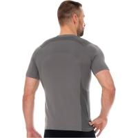 Brubeck Dynamic Outdoor Koszulka męska krótki rękaw szara