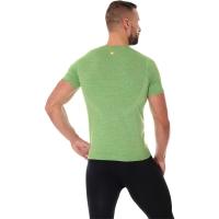 Brubeck Outdoor Wool Koszulka męska krótki rękaw zielona