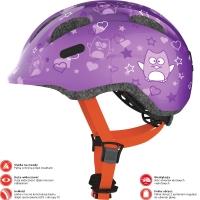 Abus Smiley 2.0 Kask rowerowy dziecięcy purple star