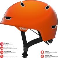 Abus Scraper 3.0 Ace Kask rowerowy miejski signal orange