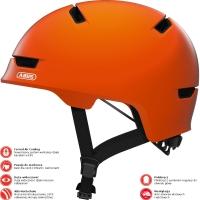 Abus Scraper 3.0 Kask rowerowy miejski signal orange
