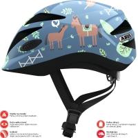 Abus Hubble 1.1 Kask rowerowy dziecięcy blue horse
