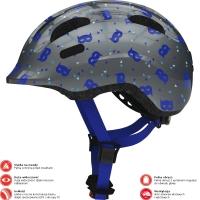 Abus Smiley 2.1 Kask rowerowy dziecięcy blue mask