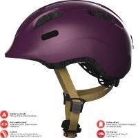 Abus Smiley 2.0 Royal Kask rowerowy dziecięcy royal purple