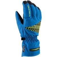 Viking FreeRide Blaze Rękawice narciarskie niebiesko limonkowe