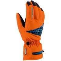 Viking FreeRide Blaze Rękawice narciarskie pomarańczowo niebieskie