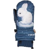 Viking Kids Glade Rękawice narciarskie dziecięce granatowe z królikiem