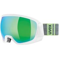 Uvex Contest FM Gogle narciarskie white mat z szybą mirror green 2019
