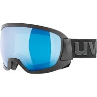 Uvex Contest FM Gogle narciarskie black mat z szybą mirror blue clear 2019