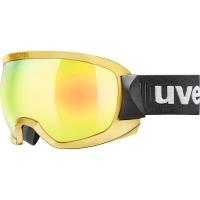 Uvex Contest FM Gogle narciarskie gold chrome mirror gold z szybą clear 2019