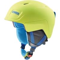 Uvex Manic Pro Kask narciarski snowboard junior lime blue met mat 51-55cm 2019