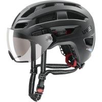 Uvex Finale Visor Kask rowerowy miejski black mat