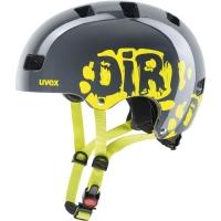 Uvex Kid 3 Kask rowerowy dziecięcy dirtbike grey lime