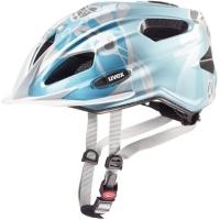 Uvex Quatro Junior Kask rowerowy dziecięcy lightblue silver