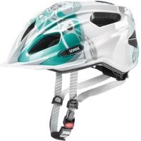 Uvex Quatro Junior Kask rowerowy dziecięcy white teal
