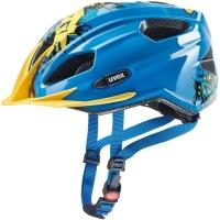 Uvex Quatro Junior Kask rowerowy dziecięcy blue yellow