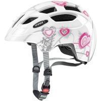 Uvex Finale Junior Kask rowerowy dziecięcy heart white pink